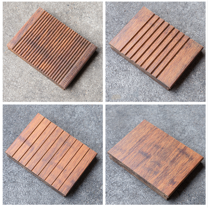 Durable Hardwood Bamboo Deck Tiles Corrosion Resistance For Outdoor Gazebo