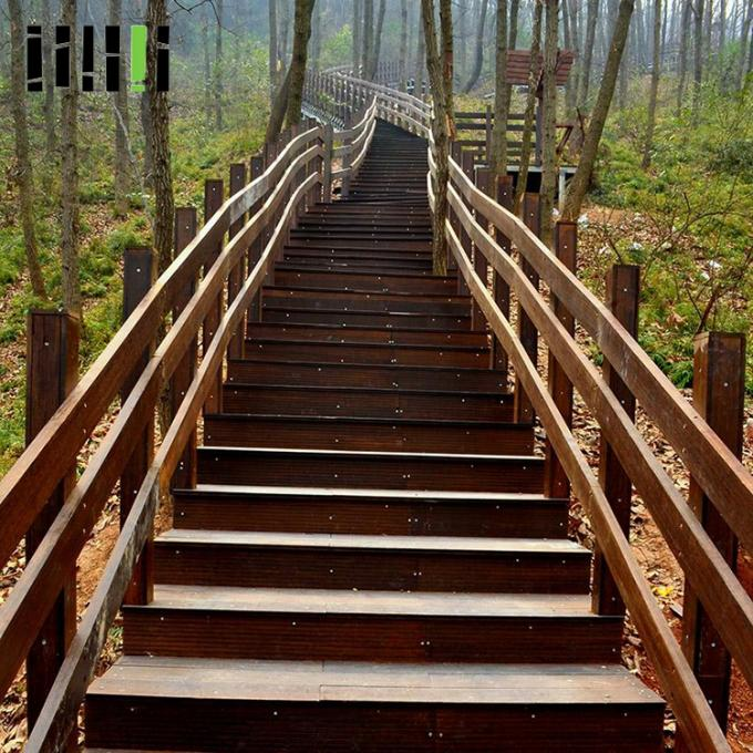 Prefinished Bamboo Deck Railing , Commercial Eco Forest Bamboo Stair Railing