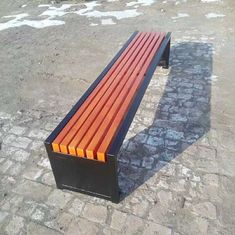 China Eco Forest Bamboo Park Bench Customized Size E0 Formaldehyde Standard supplier