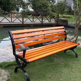 China Waterproof Outdoor Natural Bamboo Park Bench With Antique Appearance supplier