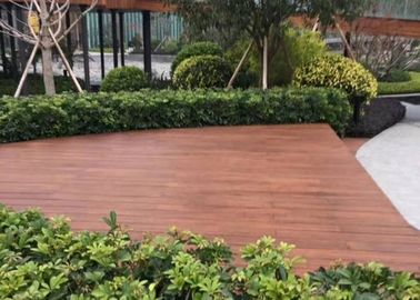 China Fire Resistant Outdoor Wood Tile , Wood Deck Tiles Non Deformation For Boat supplier