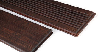 China Wide Plank Interlocking Wood Tiles Carbonized Bamboo Hardwood Material supplier