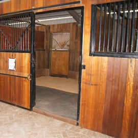 China Eco Friendly Horse Stall Doors , Carbonized Bamboo Small Horse Barns distributor