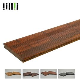 China 18 Mm Thickness Bamboo Timber Flooring Long Service Life For Outdoor Park Deck distributor