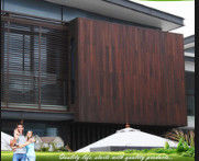 China Eco Friendly Bamboo Timber Wall Panels , Exterior Wood Plank Wall Paneling distributor
